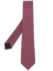 Gucci Geometric Pattern Tie Red