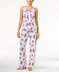 Alfani Tank Top And Pants Printed Knit Pajama Set Only At Macy's Stamped Floral