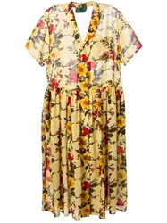 Jean Paul Gaultier Vintage Floral 'Junior Gaultier' Dress Yellow And Orange