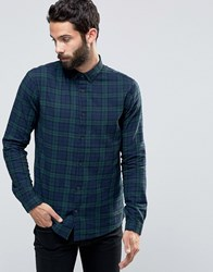 Only And Sons Tartan Shirt Navy