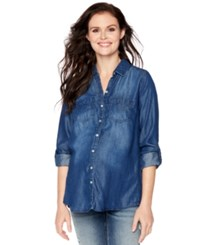 Wendy Bellissimo Maternity Chambray Button Front Shirt