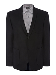 Adams Shawl Collar Blazer Black
