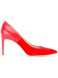 Casadei Two Tone Pump Women Chamois Leather Leather Nappa Leather Kid Leather 38 Red
