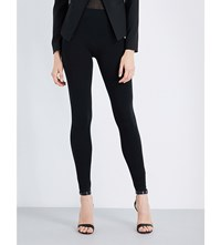 Wolford High Rise Skinny Jersey Leggings Black