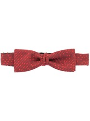 Cerruti 1881 Spotted Bow Tie Red