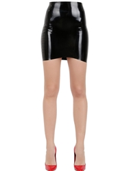 Atsuko Kudo Latex Mini Skirt Black