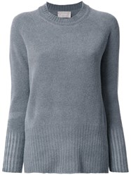 Drumohr Round Neck Jumper Grey