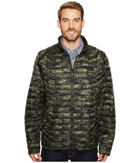 The North Face Thermoball Full Zip Jacket Thyme Tigrid Camo Print Men's Coat Olive