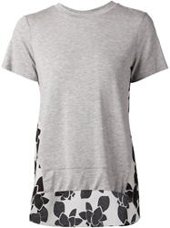 Thakoon Addition Floral Print T Shirt Grey