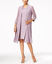 R And M Richards Embellished Dress Duster Jacket Orchid