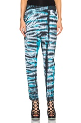 Raquel Allegra Easy Pants In Blue Ombre And Tie Dye
