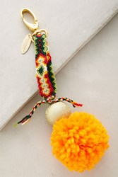 Anthropologie Pommed Friendship Keychain Orange