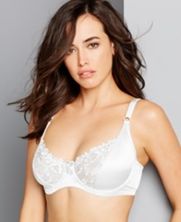 Carnival Full Figure Satin Minimizer Bra 509 White