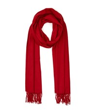 Reiss Temple Oversized Fringed Scarf In Red Womens