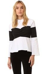 Endless Rose Collared Blouse White Black