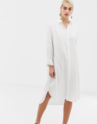 Selected Kea Midi Shirt Dress White
