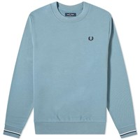 Fred Perry Authentic Tipped Cuff Crew Sweat Blue