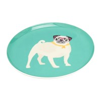 Joules Barking Side Plate Pug