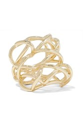 Jennifer Fisher Lace Up Gold Plated Ring 6