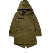 Givenchy Printed Cotton Parka Green