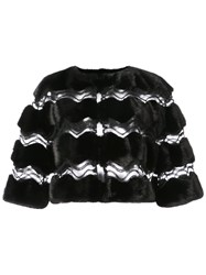 Carolina Herrera Cut Out Mesh Cape Black