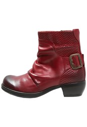 Fly London Melb Boots Red