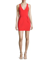 Petite Santiago Crisscross Back Mini Dress Candy Apple Women's Amanda Uprichard