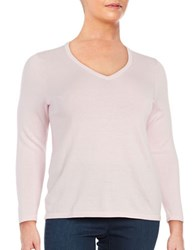 Lord And Taylor Plus Merino Wool V Neck Sweater Sweetpea