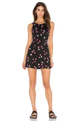 Beyond Yoga X Kate Spade Falling Floral Skort Dress Black