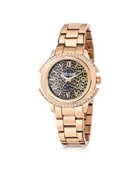 Just Cavalli Just Decor Rose Gold Tone Stainless Steel Women's Watch