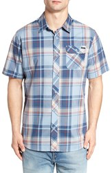 O'neill Men's Plaid Woven Shirt Light Blue