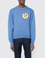 J.W.Anderson Fisherman Cotton Knit Jumper Cornflower