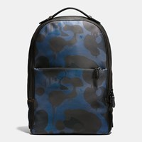 Coach Metropolitan Soft Backpack In Wild Beast Print Leather Qb Denim Wild Beast