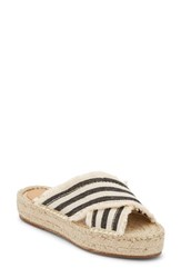 G.H. Bass And Co. Anabelle Espadrille Sandal Ivory Black Fabric