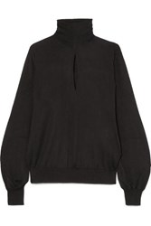 Tom Ford Cutout Cashmere And Silk Blend Turtleneck Sweater Black
