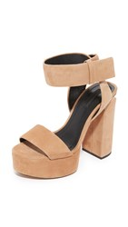 Alexander Wang Keke Platform Sandals Clay Rhodium