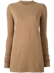 Rick Owens Drkshdw Crew Neck Jumper Brown