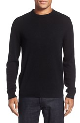 Nordstrom Men's Big And Tall Crewneck Cashmere Sweater Black Caviar