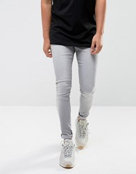 Waven Extreme Skinny Fit Jeans In Light Used Grey Grey