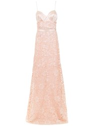Tufi Duek Lace Long Dress Pink And Purple