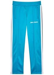 Palm Angels Turquoise Jersey Jogging Trousers