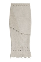 Damir Doma Knit Skirt With Wool And Alpaca Beige