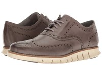 Cole Haan Zerogrand Wing Ox Leather Ironstone Leather Closed Ivory Men's Shoes Brown