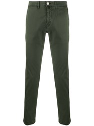 Jacob Cohen Slim Fit Chino Trousers Green