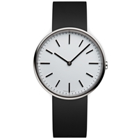 Uniform Wares M37 Wristwatch Polished Steel And Black Rubber