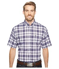 Cinch Short Sleeve Athletic Plaid White Men's Clothing