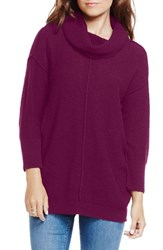 Women's Two By Vince Camuto Exposed Seam Cowl Neck Pullover Perfect Plum