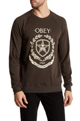 Obey Shield And Wreath Pullover Black