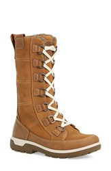 Ecco Women's 'Gora' Gore Tex Waterproof Lace Up Boot Camel Oiled Nubuck Leather