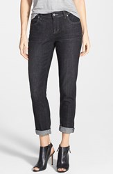 Petite Women's Eileen Fisher Organic Cotton Boyfriend Jeans Vintage Black